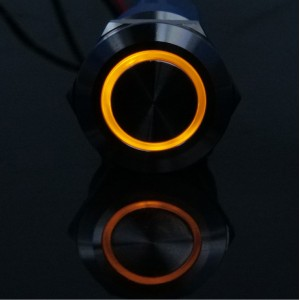带灯双色LED平头按钮开关金属不锈钢防水按钮量
