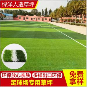 直销PE人工草坪幼儿园足球场人造草坪户外休闲装饰地毯免费拿样
