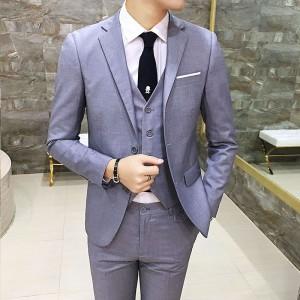 男士西装男修身新郎结婚礼服