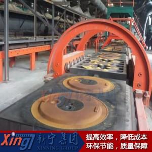 (水平分型)鐵模覆砂鑄造生產線廠家直銷歡迎來電