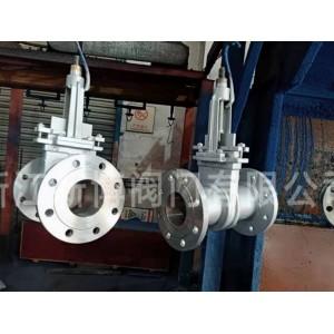 手动刀闸阀结构长度加长 PZ73Y-16P DN100