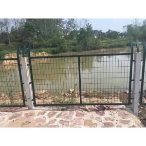 防护栅栏|高铁桥下防护栅栏|铁路外翻护网|金属浸塑网片