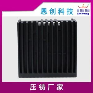 锌合金压铸厂家加工定制黑砂纹粉连接器外壳