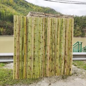 竹屏风户外白竹竿栅栏围栏紫篱笆墙花栏竹排网竹帘子爬藤架花园艺