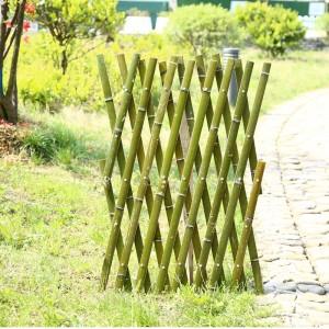 户外碳化伸缩竹篱笆栅栏围栏室外护栏花园竹子竿拉网竹编制品围墙