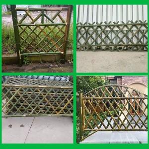 户外竹篱笆栅栏围栏墙护栏竹花园庭院装饰美丽乡村