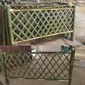 伸缩竹篱笆竹子栅栏围栏户外庭院菜园护栏围墙花园竹片竹拉网隔断