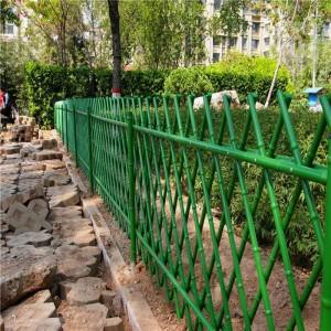 园艺景观不锈钢仿竹护栏景区仿真竹节围栏绿化园林仿竹子篱笆围栏