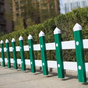 草坪护栏 塑钢锌钢PVC花池绿化带隔离栏市政隔离绿化围栏