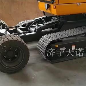 橡胶轮式挖掘机改装厂家直接生产销售 挖掘机底盘加工