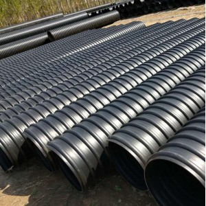 大口径排污波纹管 DN400HDPE钢带增强波纹管
